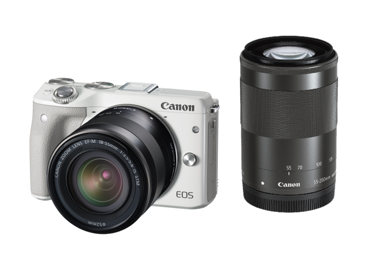 Canon digital SLR camera EOS M3 double zoom Kit (White)