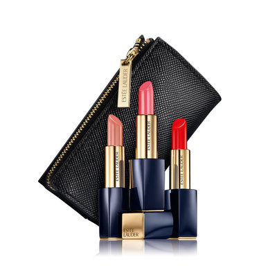 3 Pure Color Envy Hi-Lustre Light Sculpting Lipsticks (with Pouch)