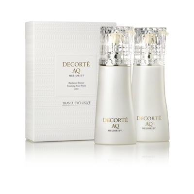 DECORTÉ  AQ  MELIORITY  RADIANCE REPAIR FOAMING FACE WASH DUO